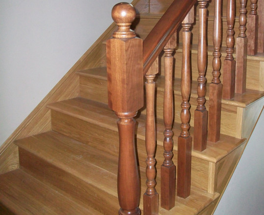 Natural Stain | Railing and Spindles