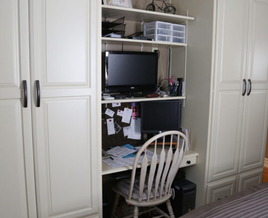 Artic Paint   Desk and Wardrobes