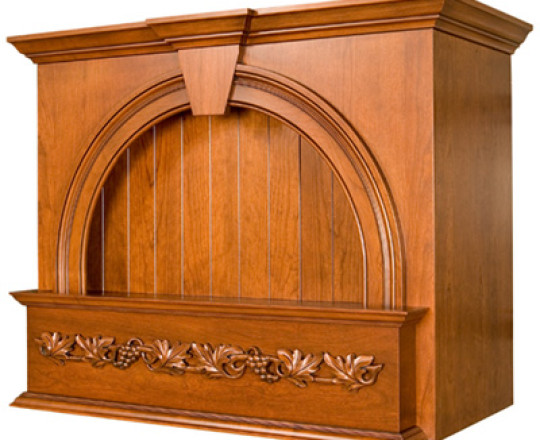 Wood Range Hood A Series w/Ornate