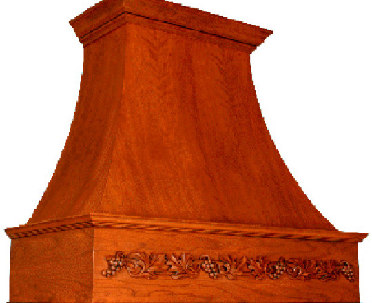 Wood Range Hood E Series w/Cut-Out