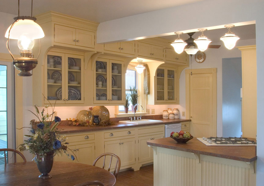 Forever Cabinets Kitchen Hard Maple Buttercream Paint