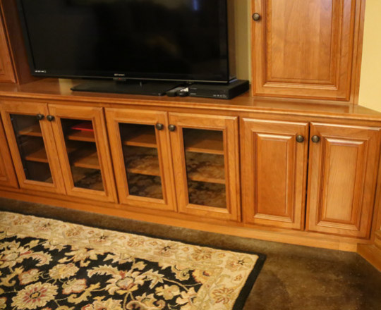 Cherry Stain | Entertainment Center
