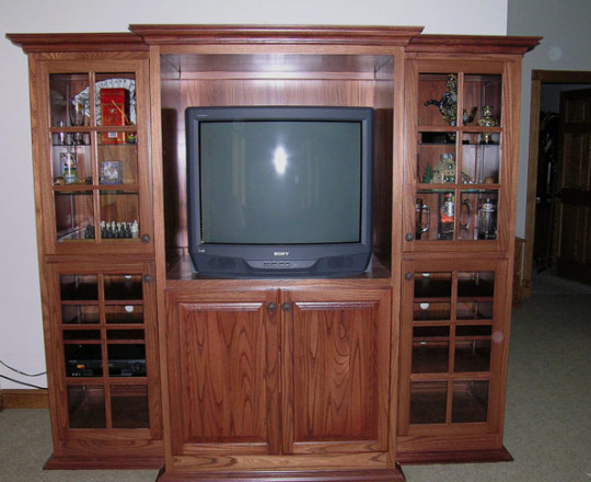Mahogany Stain | Entertainment Center