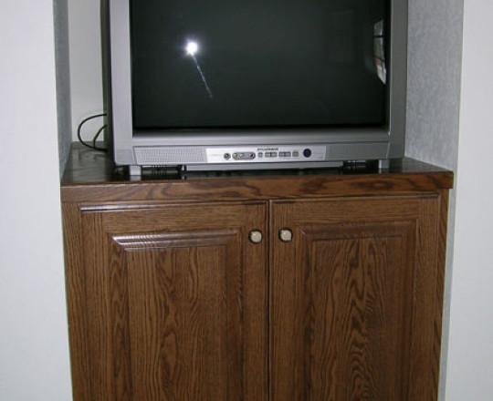 Custom Stain | Bedroom Entertainment Center