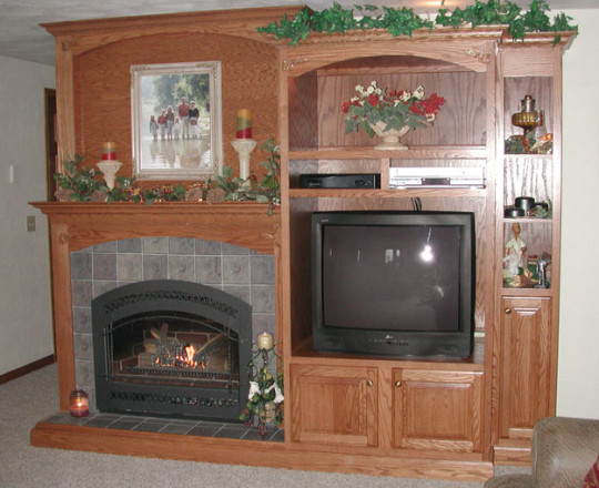 Cinnamon   Fireplace and Entertainment Center