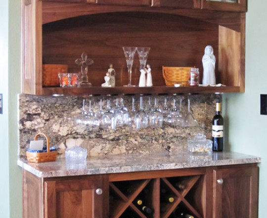 Under Cabinet Stemware Holder & Wine Bottle Storage