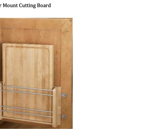 Door Mounted Cutting Board Holder