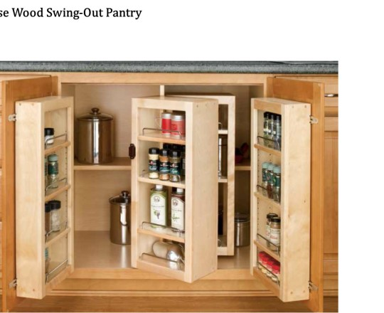 Base Wood Swing-out Pantry