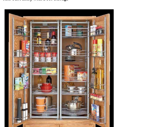 Roll-out Pantry with Door Storage