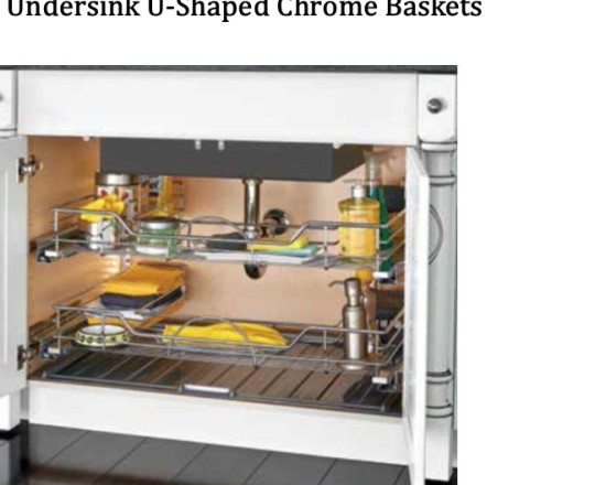 Undersink U-Shaped Chrome Baskets