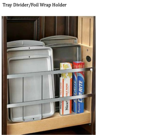 Tray Divider - Foil, Wrap Holder