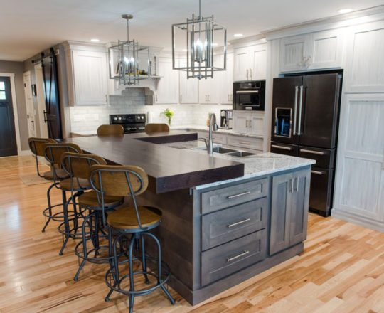 Kitchen| Hard Maple | Plantation and  Rustic Walnut | Mocha