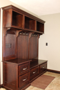 Room: Entryway Species: Red Oak Finish: Merlot